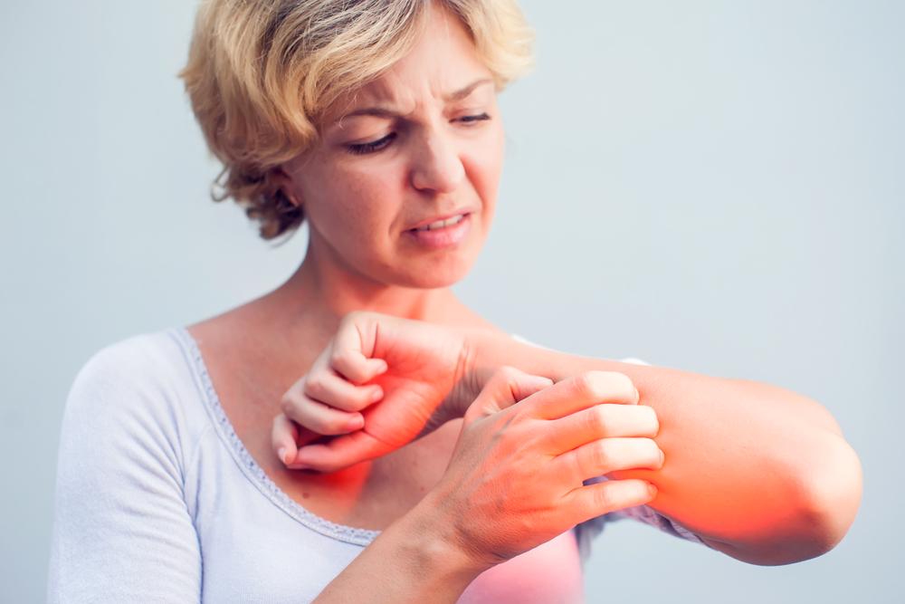 test bőrbetegsége vörös foltok)