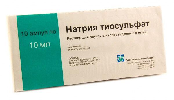 Nátrium-tioszulfát ízületi fájdalmak kezelésére Nátrium-tioszulfát prosztatitisz ellen