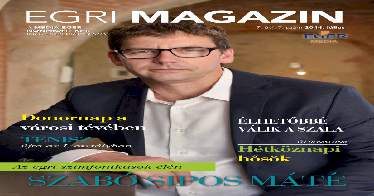 Egri Magazin 2014 július